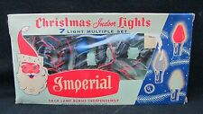 Vintage Imperial 7 Light Christmas Indoor Lights String USA Made w/Box - Works