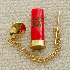 Winchester Shotgun Shell Tie Tack Pin and Chain Clasp