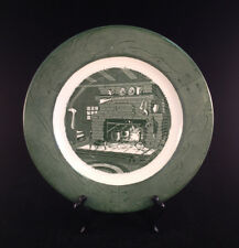 """Colonial Homestead by Royal Underglaze Circa 1750 Patented K 53 10"""" Plate"""