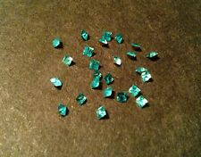 25 VINTAGE SWAROVSKI AQUA MARINE SQUARE 2mm RHINESTONES JEWELRY REPAIR LOOSE