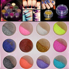 12 Color Glitter Dust Powder Set For Nail Art Acrylic Tips Decoration Crafts