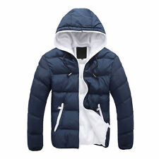 Men's Slim Casual Warm Jacket Hooded Winter Thick Coat Parka Overcoat Hoodie #G&