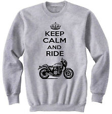 HONDA CB 1100 2010  KEEP CALM P - NEW COTTON GREY SWEATSHIRT ALL SIZES IN STOCK