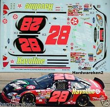 NASCAR DECAL #28 NEED FOR SPEED 2001 BUD SHOOT-OUT FORD TAURUS  RICKY RUDD SLIXX