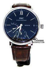 IWC Portofino hand Wound Eight Days Stainless Black IW5101-02