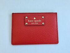 Kate Spade Wellesley Red Leather Card Case Wallet New with Tags