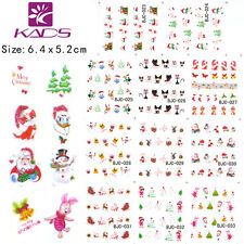 11 Sheets/Lot Christmas Design Nail Art Stickers Water Transfer Decals BJC23-33