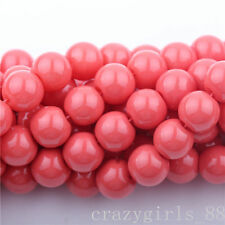 50Pcs Red Czech Crystal Glass Round Craft Loose Spacer Beads Jewelry DIY 6mm