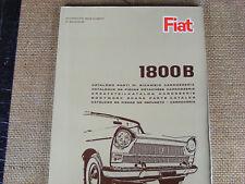 FIAT 1800 B parti del corpo delle parti manuale da FIAT. stampato in 5 lingue