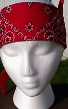 AWESOME BLINGED OUT SWAROVSKI BANDANA RED MULTI COLOR CRYSTALS*HARLEY DAVIDSON*