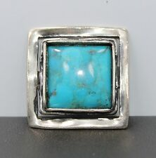 Silpada Sterling Silver and Turquoise Square Pendant