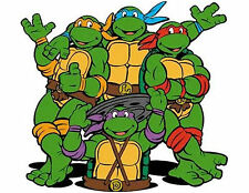 Teenage Mutant Ninja Turtles 48 Large Sticky White Paper Stickers Labels New