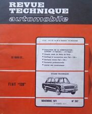 Revue technique FIAT 128 berline break coach RTA 307 1971 + CITROEN D SUPER
