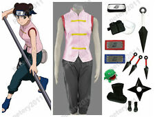 Custom-made Naruto Anime Cosplay Tenten Costume Halloween Set