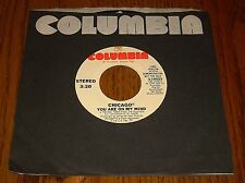 CHICAGO ORIGINAL PROMO 45 RPM YOU ARE ON MY MIND 1976