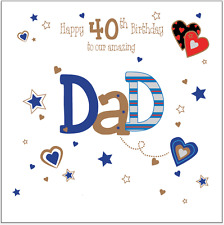 Personalised birthday card Dad Daddy 30th 40th 50th 60th 70th 80th any message