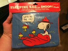 Rare Vintage Sleeping Bag for Snoopy Plush New in Package (NIP)