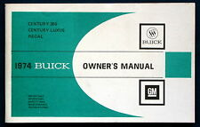 Owner's Manual * Betriebsanleitung 1974 Buick Century 350  Century Luxus  Regal
