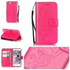 """Butterfly Flower Leather Flip Wallet Case Cover ForApple iPhone 6 6S Plus 5.5"""""""