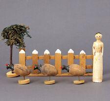 Spielzeug Bauernhof Holz in der Spanschachtel um 1900 Skandinavien Tiere Modell