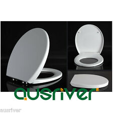 Brand New Bathroom Toilet Seat Cover Lid Soft Close Quick Release White Round