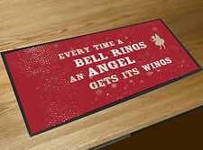 Everytime a Bell Rings an Angel Quote Christmas bar runner Pubs & Cocktail Bars