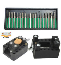 DIY Crafts®Holder+30xTitanium Diamond Burrs Bur Bit Set Dremel Rotary Tool Sete