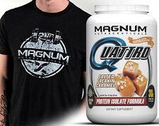 Magnum Nutraceuticals Quattro 2lb Salted Caramel Milk Egg Whey Casein Protein