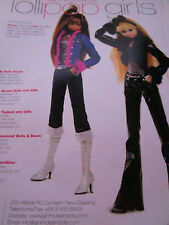 Jan McLean LOLLIPOP GIRLS Doll Ad  / Advertisement ONLY