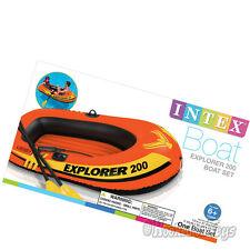 Intex Explorer 200 Inflatable Boat Set - Two Person Raft w/ Paddles & Pump 58331