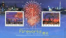 Austria - 2006 bloque 35 fuegos artificiales con hong kong marca post frescos **