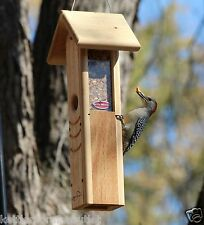 Kettle Moraine Woodpecker Wild Bird Feeder #8460 Peanut Woodpecker Mix Feeder