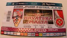 old TICKET * EURO 2012 q * Croatia - Malta in Zagreb