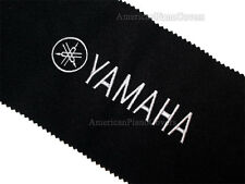 Yamaha Piano Key Cover - Black Felt Silver Embroidered Keyboard Cover