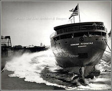 Photo The Launch Of The Edmund Fitzgerald, River Rouge, Michigan, 1958