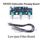 DC 12V-24V Low-pass Filter NE5532 Subwoofer 2.1CH Pre-Amplifier Preamp Board