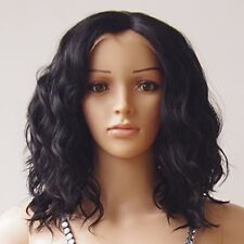 Afro Kinky Curly Lace Front Wig Loose Wavy Synthetic Hair Short Bob Lob Heat OK