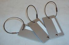 Luggage Tags ~ CASE LOT 50 UNITS ~ Aluminum w/Braided Cable Latch ~ LT100