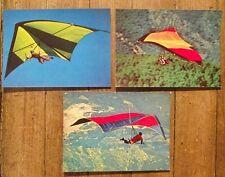 Lot 3 cartes postales vintage,parapente,aile delta,   CPSM