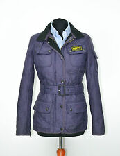 Womens Barbour International Quilted Jacket Purple SZ 8UK