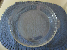 Vintage PYREX 229 10″ Clear Glass Fluted Scalloped Edge Deep Dish Pie Plate