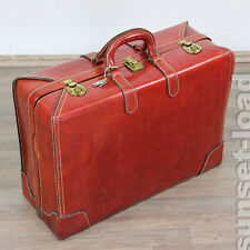 Cheney London Leder Koffer 61x45x23cm Leather Suitcase England 40er 50er vintage