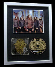 SHADOWS FALL+SIGNED+FRAMED+RETRIBUTION=100% AUTHENTIC+EXPRESS GLOBAL SHIPPING