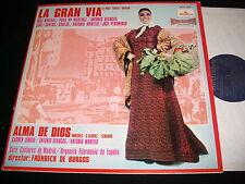 """ALMA DE DIOS  LA GRAN VIA  12"""" Lp Vinyl~Spain Pressing  ALHAMBRA SCE 951"""