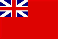 RED ENSIGN 1707-1801 FLAG 5' x 3' England Colonial Meteor Merchant Navy Duster