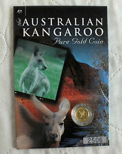 AUSTRALIA 2001 $5 KANGAROO NUGGET 1/20oz .9999 GOLD PROOF FINISH