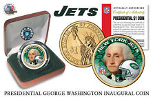NEW YORK JETS NFL USA Mint PRESIDENTIAL Dollar Coin VELVET BOX AND COA  *NEW*