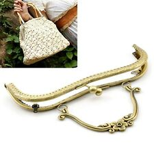 Bronze Large Purse Handbag Bag Arch Frame 20.5cm Sew In Kiss Pinch Clasp &Handle