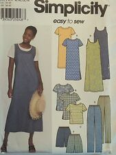 Easy SIMPLICITY 9754 Dress~Tunic~Top~Jumper~Pants~Shorts PATTERN 8-10-12-14 UC