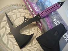"United Purple Haze Biohazard Tomahawk Throwing Axe/Ax Hatchet Spike Knife 15"" OA"